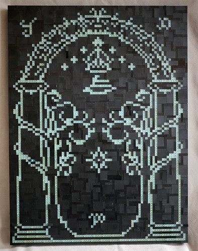 LEGO Lord of the Rings Doors of Durin mosaic