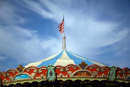 carousel & sky