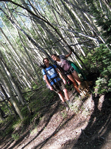 Kinsee and I in the aspen forest