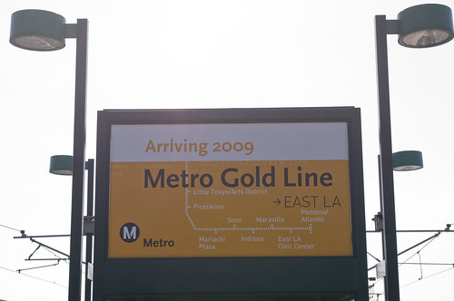 As so many at the ceremony said, a promise has been delivered, the Gold Line has come to East L.A.