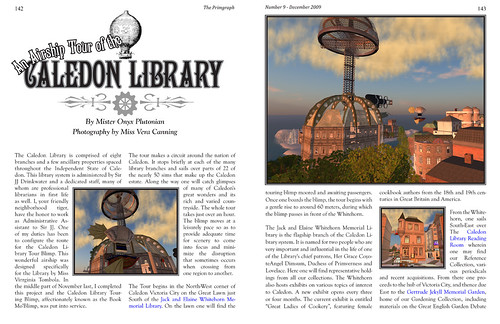 The Primgraph Issue 9: Balloon Tour of the Caledon Libraries