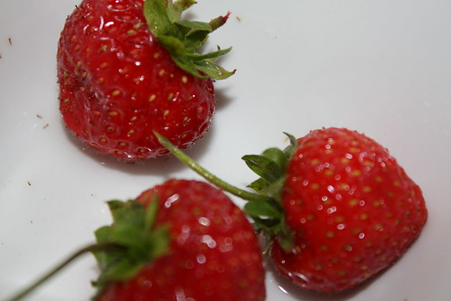 It was Ramadhan, we broke our fast with strawberries :)