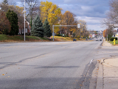 US 40 heading toward downtown Richmond