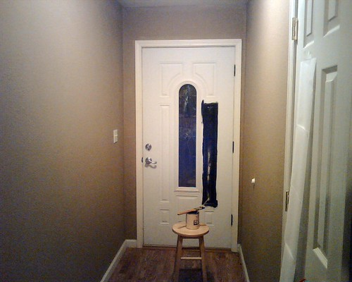 Before door