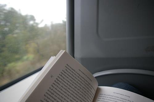 reading onna train