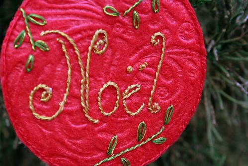 Noel Ornament - Detail