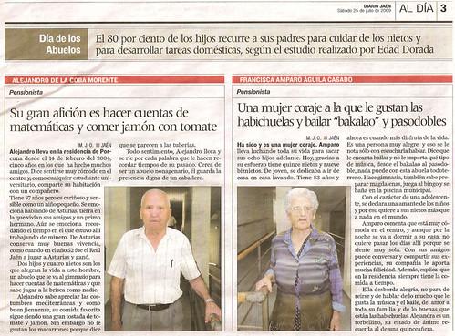 Recorte de prensa de Diario Jaén del 25/07/2009, pág. 3