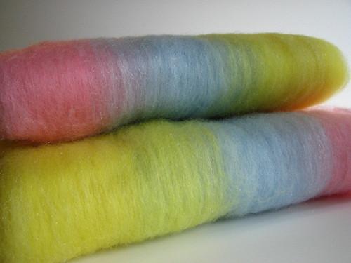 Pastel Stripe Batts - 3 oz each