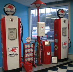 Mobilgas Pumps Inside Gas Station Display