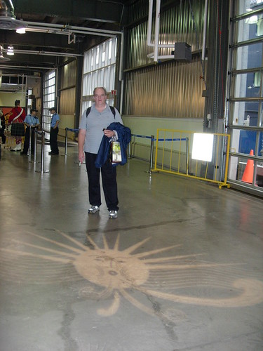 We did see the sun in Halifax.  It was projected onto the floor of the port building.