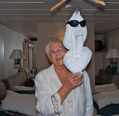 Towel monkey & Nanny on the Monarch of the Seas