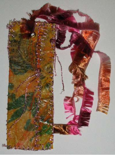 Fabric Paper Book Mark Front
