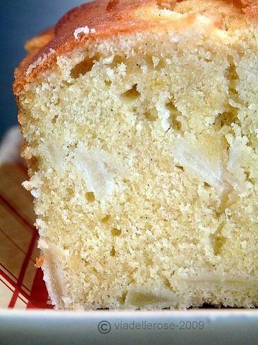 Cake alle pere alla vaniglia