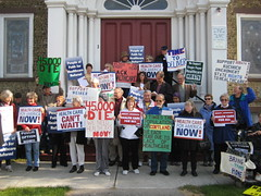 Gathering at UU church in Cortland 8