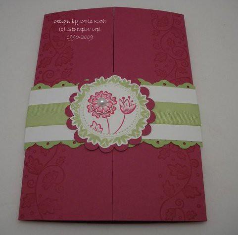 Hochzeitskarte Rosenrot