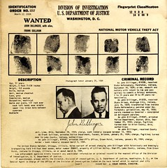 [Recto] Wanted poster: John Dillinger, publish...