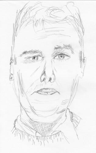 Self-portrait, drawn on December 10, 2008