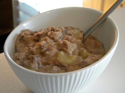 Choco-vanilla banana oats