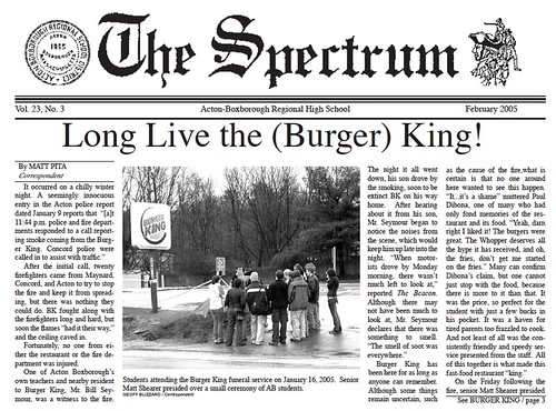 Long Live the (Burger) King!