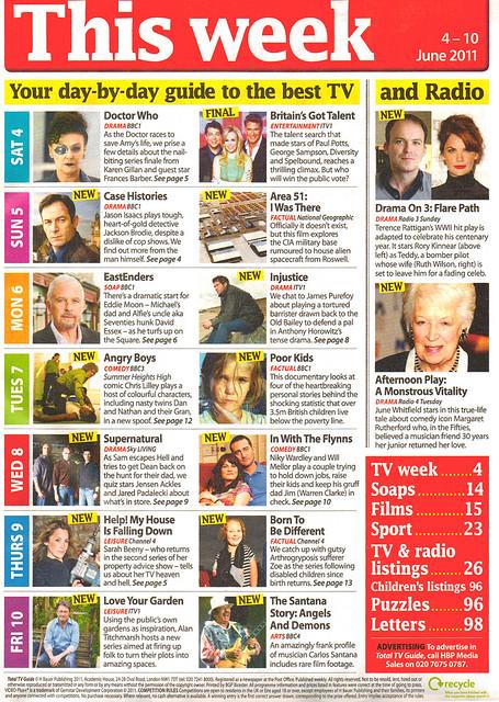 Total TV Guide 4-10 June 2011 This Week