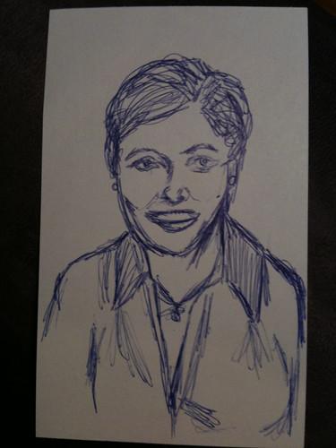 3x5 ink sketch