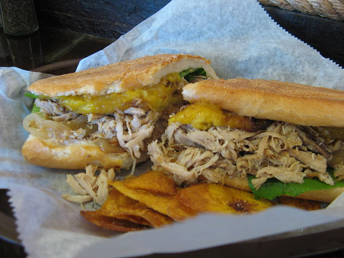 Lechon sandwich from 90 Miles to Cuba