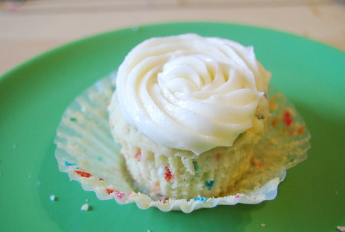 Funfetti Cupcakes with Rosewater Buttercream