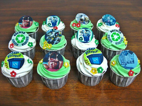 'recycle' cup cake