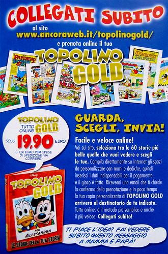 Volantino pubblicitario, Topolino Gold, 2