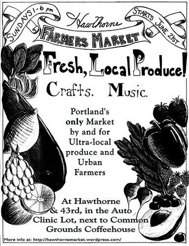 Hawthorne Urban Farmers Market @ 43rd, Sundays, 1-6pm