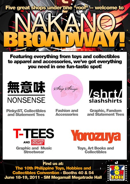 Nakano Broadway 2011 Toycon 無意味 NONSENSE Shop Shoujo Slash Shirts T-TEES Yorozuya