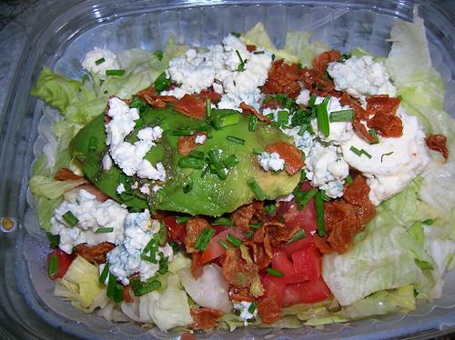 Day-old half chopped salad