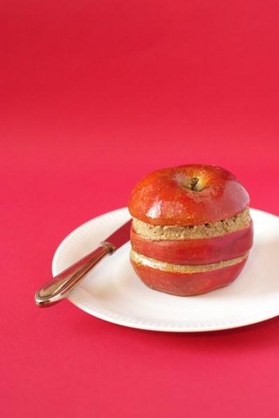 Pomme et mousse de foies de volailles