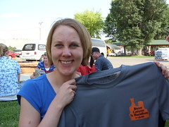 With my t-shirt at packet pick-up