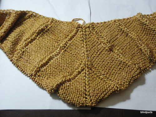 Milkweed WIP (top down trianglar garter st. shawl)