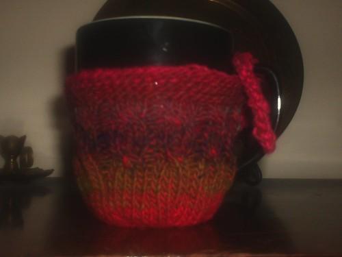 Noro Cabled Mug Cozy