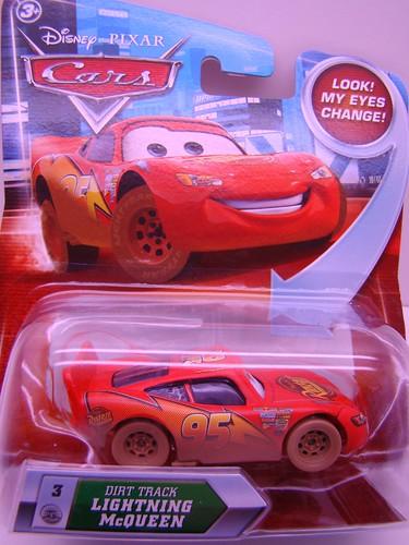 Disney CARS Lenticular Dirt Track McQueen