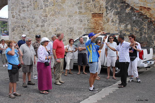Our small tour group in Santo Domingo