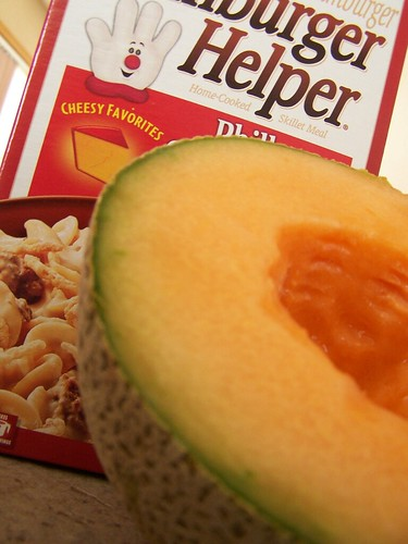 Hamburger Helper Vs. The Cantalope