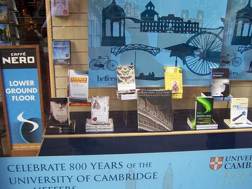 Darwin Display at Heffers Bookstore, Cambridge, England