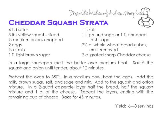 Cheddar Squash Strata
