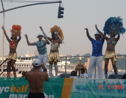 Entertainment at 42nd St. & West Side Highway