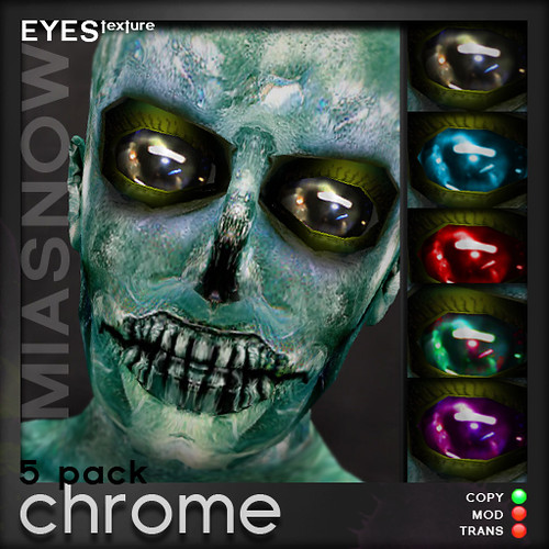 MIASNOW Eyes - CHROME 5 pack