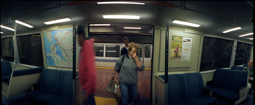 boarding bart at 16th and mission