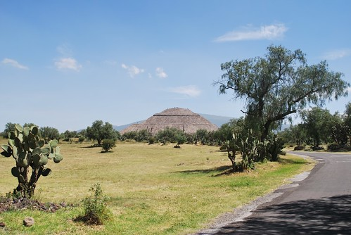 View of the Pyramid of the Sun from a distance