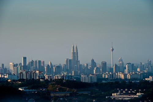 View of KL from Bukit Tabur