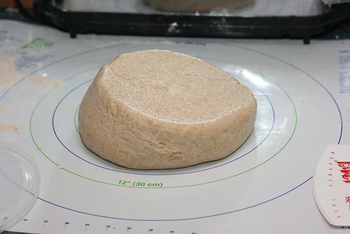 Risen Light Wheat Dough