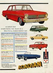 1962 Acadian Lineup (Canada)
