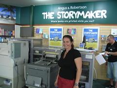 Joanna Penn with the Espresso Book Machine in ...