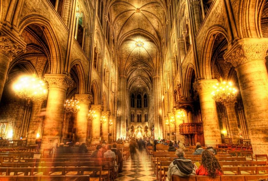 The Golden insides of Notre Dame